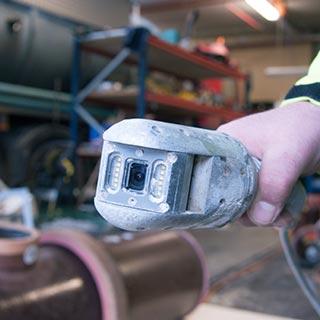 Camera endoscoop voor rioolinspectie